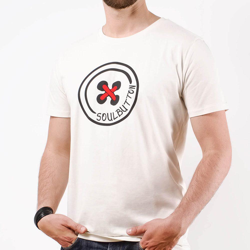 Soul-Button-T-Shirt-Vintage-White