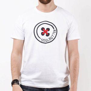 Soul-Button-T-Shirt-White